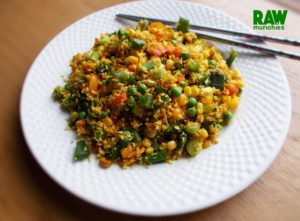 "Raw Vegan ""Stir Fried"" Parsnip Rice 